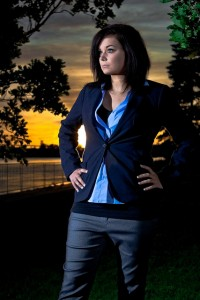 Jennie Infront of Sunset